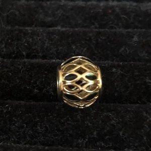 Pandora solid 14kt gold Victorian charm